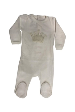 Coton PomPom  Peruvian Cotton Velour Crown Footie - Alternate List Image