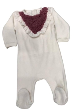 Coton PomPom  Ruffle Peruvian Cotton Footie For Newborn Girls - Alternate List Image