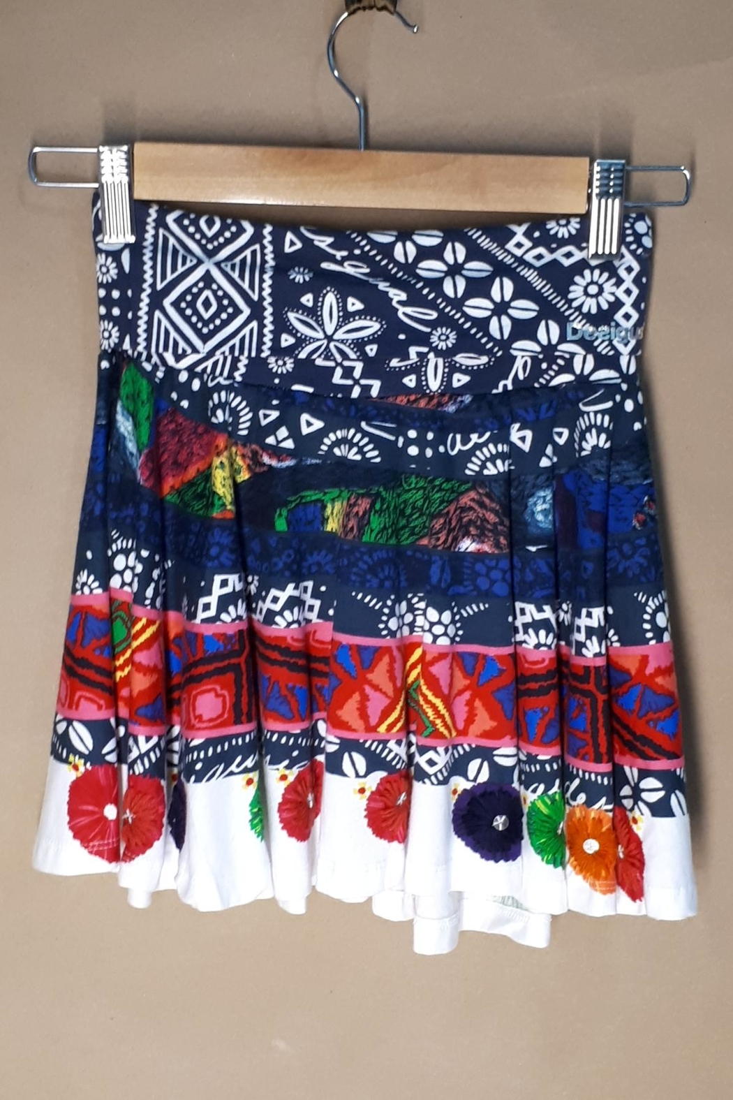 DESIGUAL Cotton Argencola Skirt - Front Cropped Image