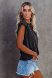 The Emerald Fox Boutique Cotton Blend Round Neck Tee - Side cropped