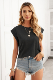 The Emerald Fox Boutique Cotton Blend Round Neck Tee - Front cropped