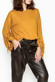 Cotton Bleu Bell Sleeve Top - Front cropped
