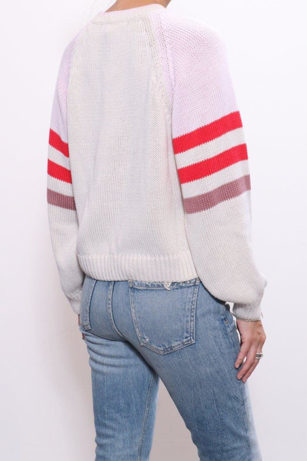 Xirena Cotton Blocked Sweater - Side Cropped Image