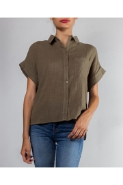 Le Lis Cotton Button-Down Collard-Blouse - Product Mini Image