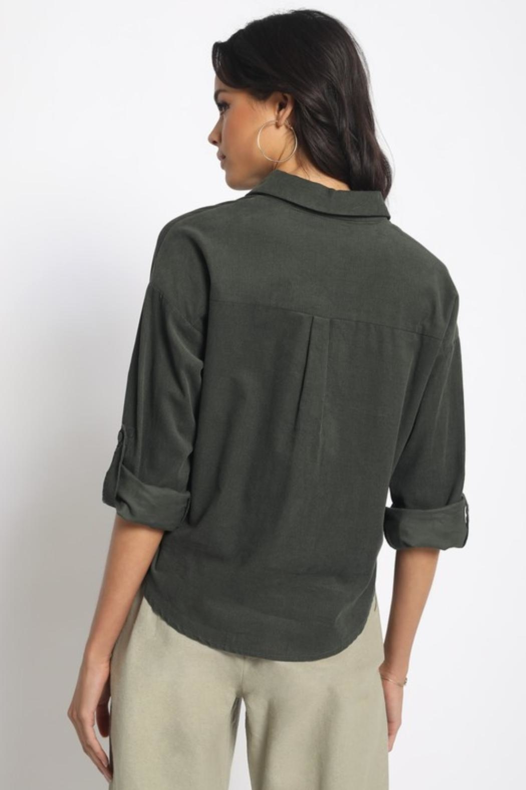 Olivaceous Cotton Button Down - Side Cropped Image