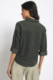 Olivaceous Cotton Button Down - Side cropped