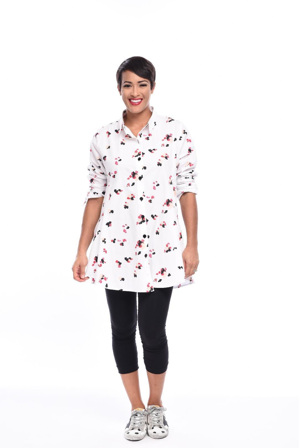 5920204b61b Tulip Cotton Button-Up Tunic from Cambria by New Moon — Shoptiques