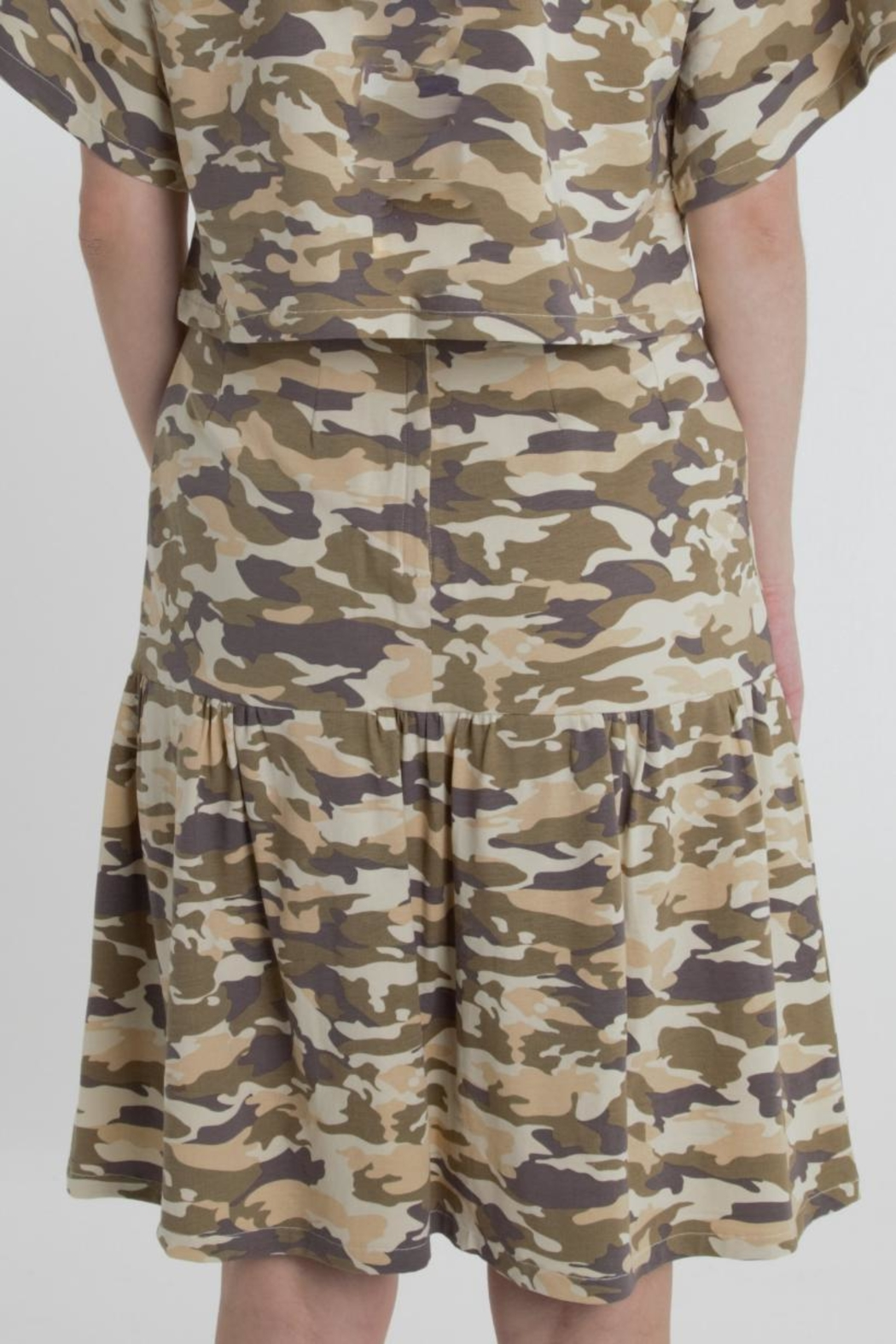 Thread+Onion Cotton Camo Skirt - Side Cropped Image