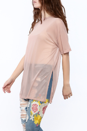 Cotton Candy Blush Mesh Top - Product Mini Image