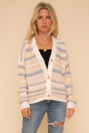 Hem & Thread Cotton Candy Cardigan - Front cropped