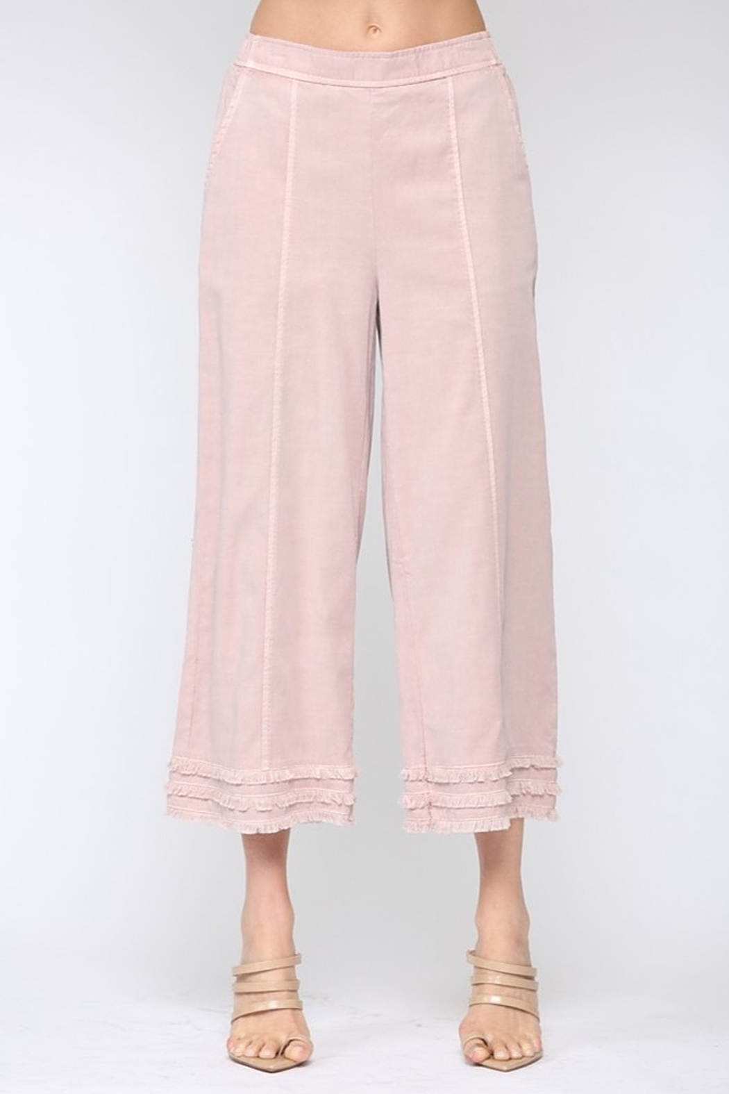 Fate Cotton Candy Frayed Culottes - Main Image