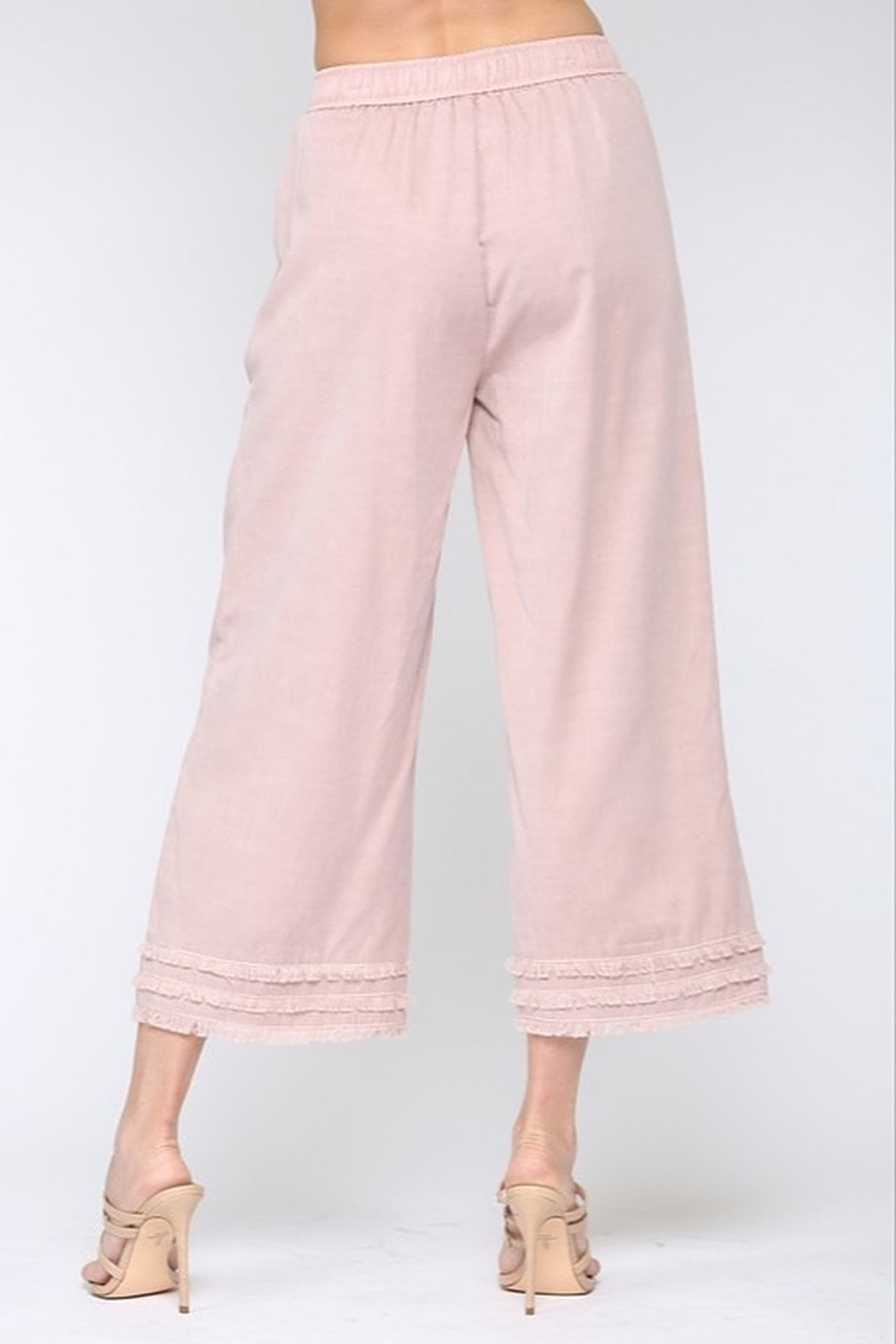 Fate Cotton Candy Frayed Culottes - Front Full Image