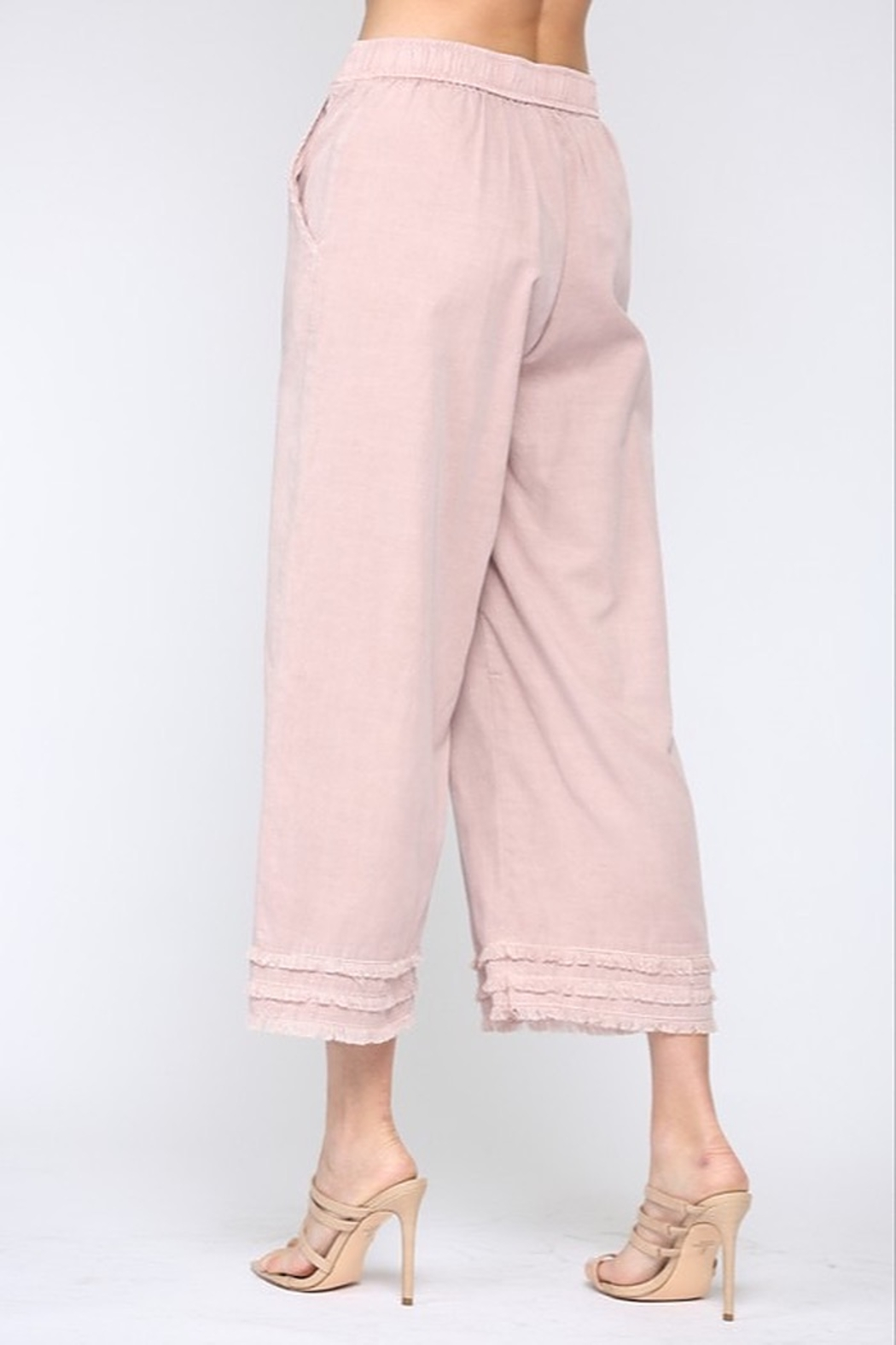 Fate Cotton Candy Frayed Culottes - Side Cropped Image