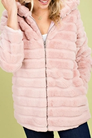 Main Strip Cotton-Candy Hooded Jacket - Product Mini Image