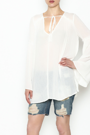 Cotton Candy LA Bell Sleeve Blouse - Product Mini Image