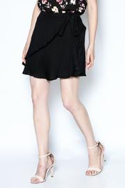 Cotton Candy LA Black Flirty Wrap Skirt - Product Mini Image