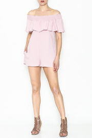 Cotton Candy LA Off The Shoudler Romper - Side cropped