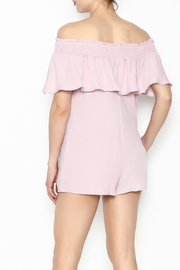 Cotton Candy LA Off The Shoudler Romper - Back cropped
