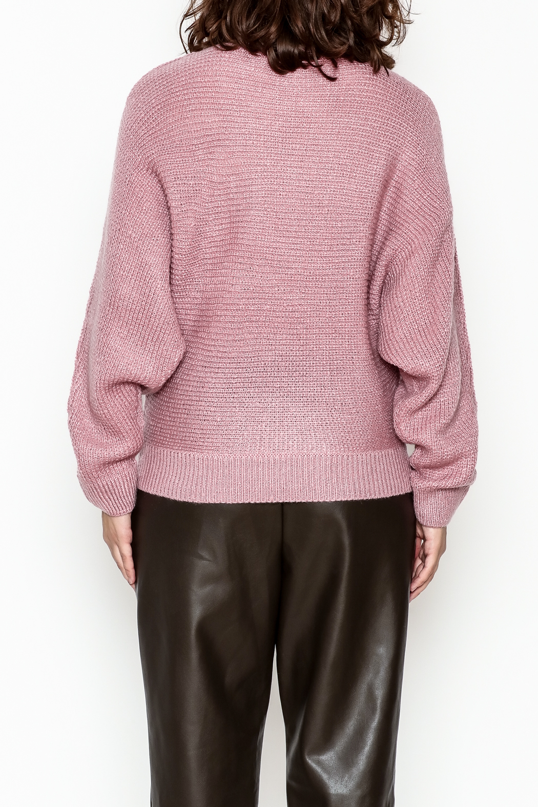 Cotton Candy Long Sleeve Sweater - Back Cropped Image