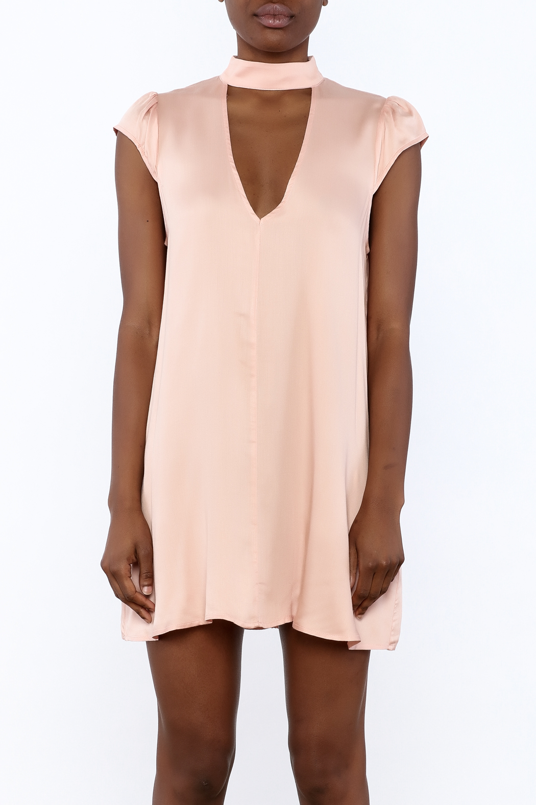 Cotton Candy Lucky Peach Dress - Side Cropped Image