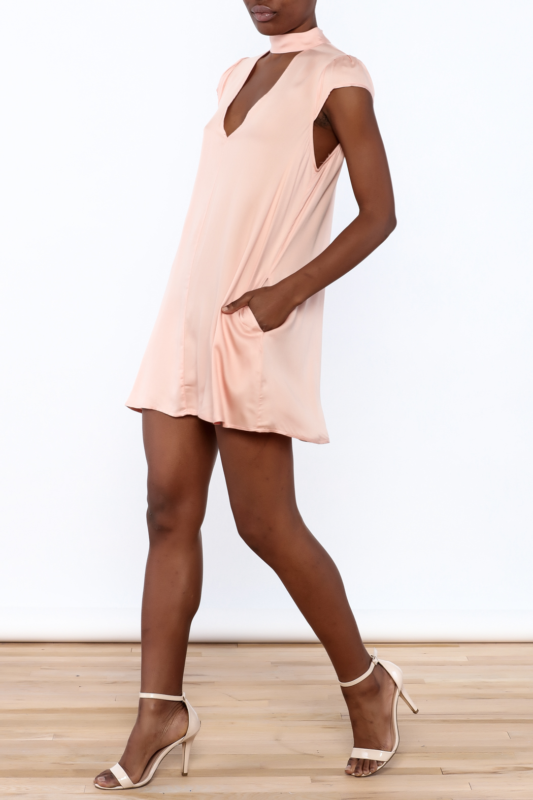 Cotton Candy Lucky Peach Dress - Front Full Image