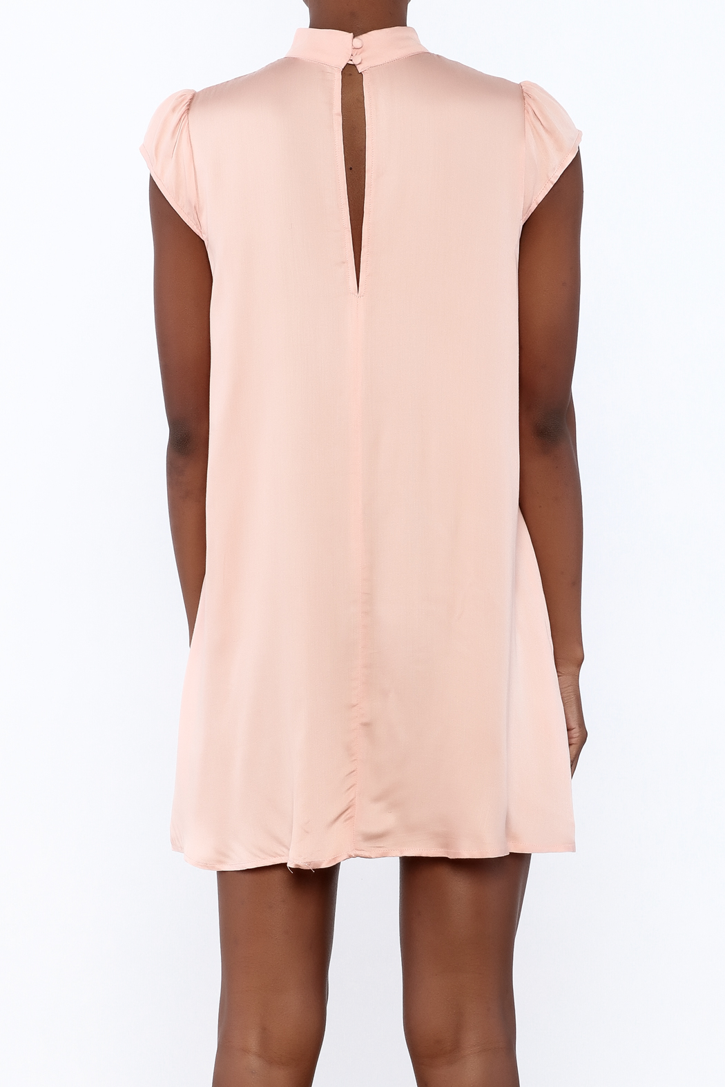 Cotton Candy Lucky Peach Dress - Back Cropped Image