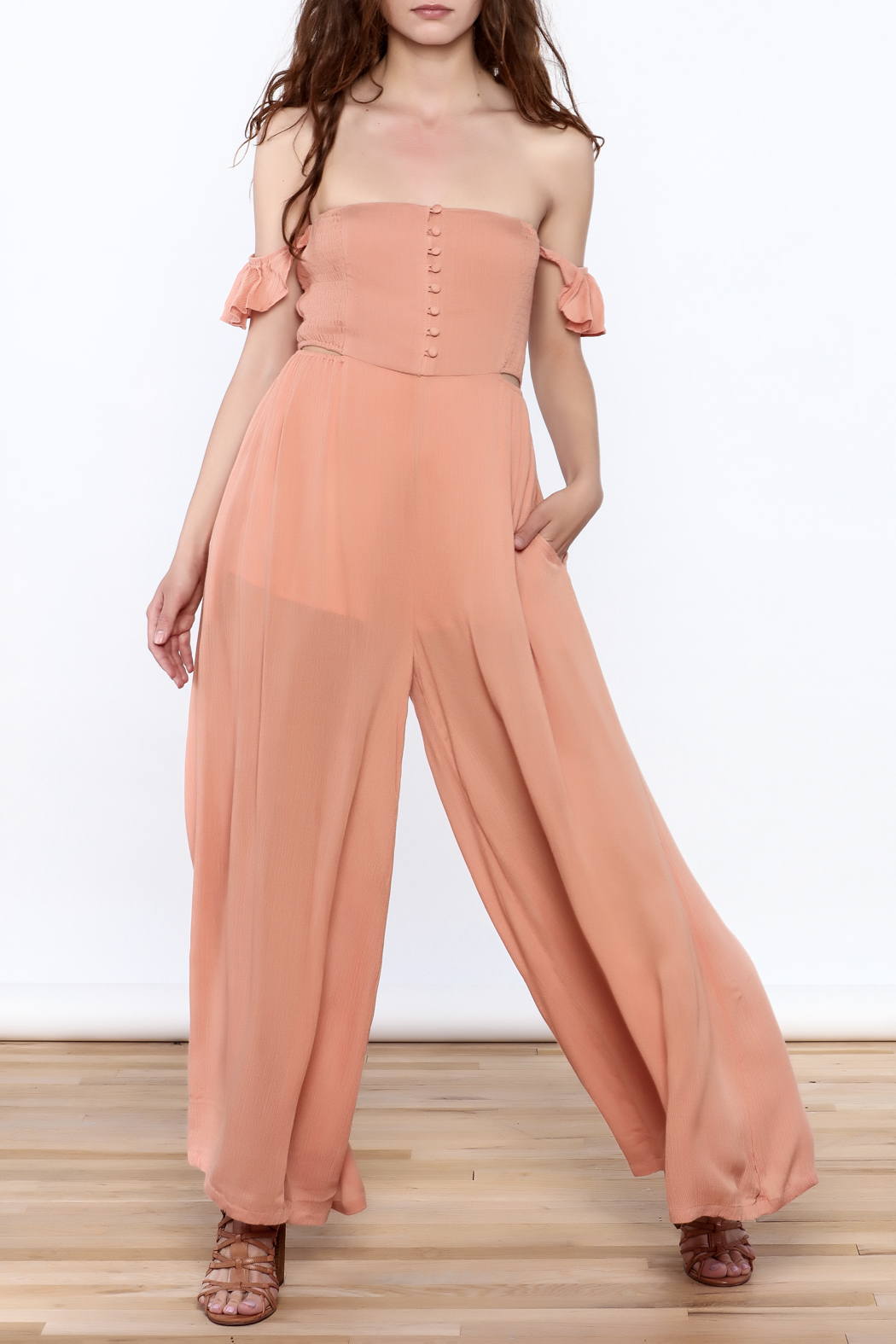 Cotton Candy Penny Lane Jumpsuit - Front Full Image