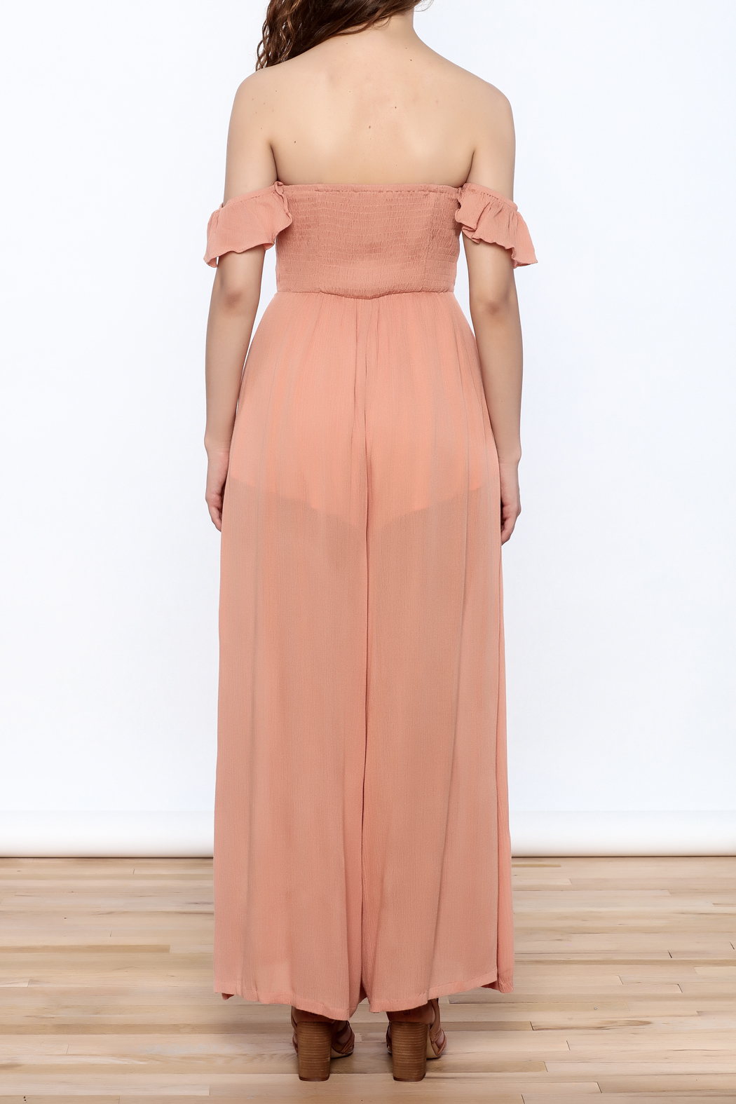 Cotton Candy Penny Lane Jumpsuit - Back Cropped Image
