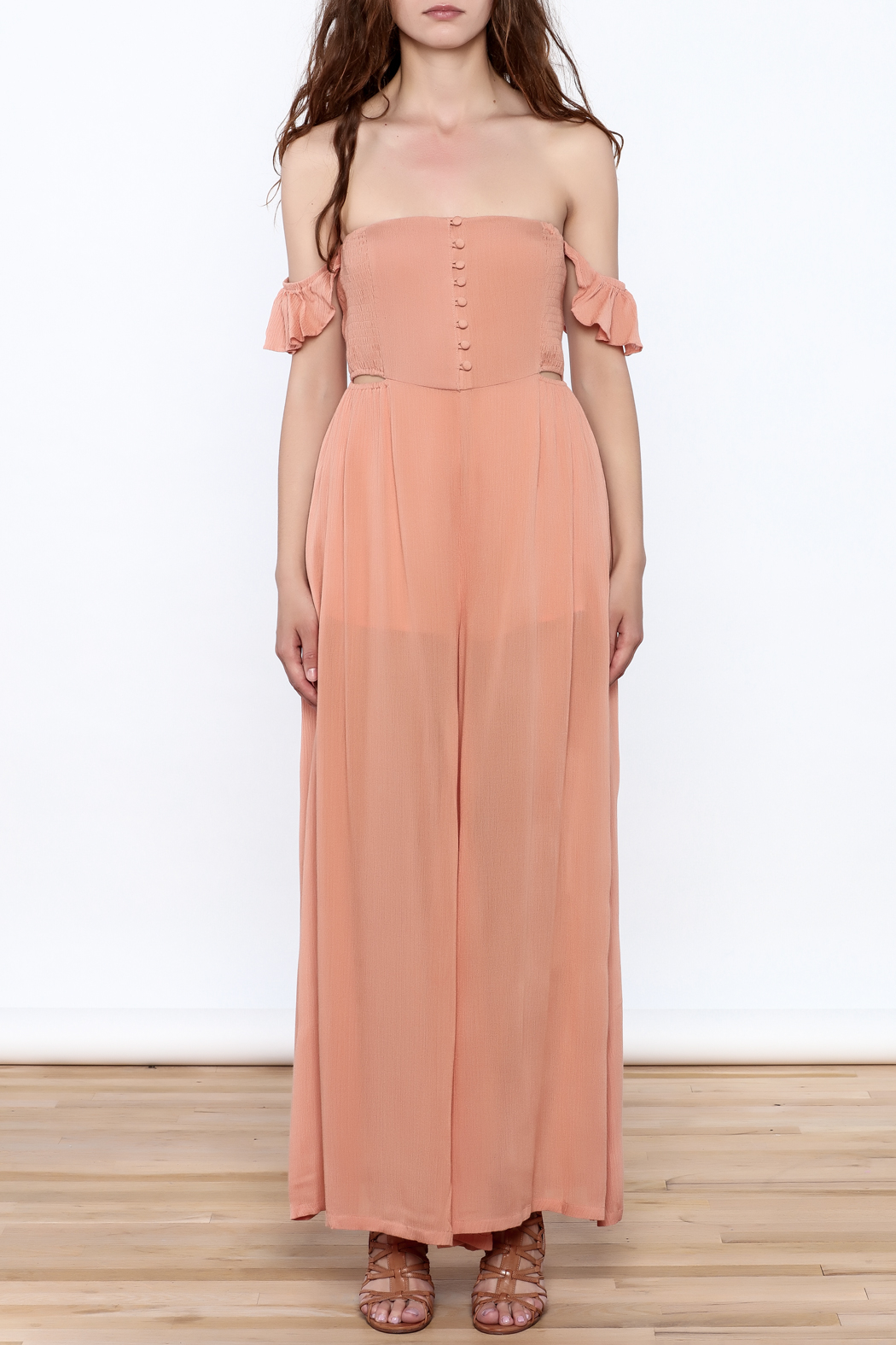 Cotton Candy Penny Lane Jumpsuit - Front Cropped Image