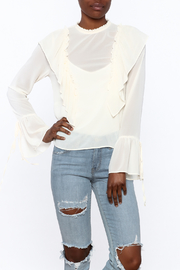 Cotton Candy Ruffle Tie Blouse - Product Mini Image