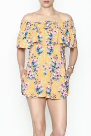 Cotton Candy Tropical Destiny Romper - Front cropped