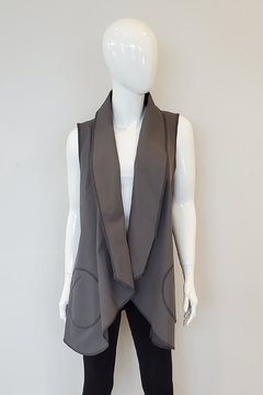 Beyond Threads Cotton Canvas Odessa Vest, Black or Koala - Product List Image