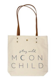 Karma Cotton Canvas Tote Bag - Front cropped