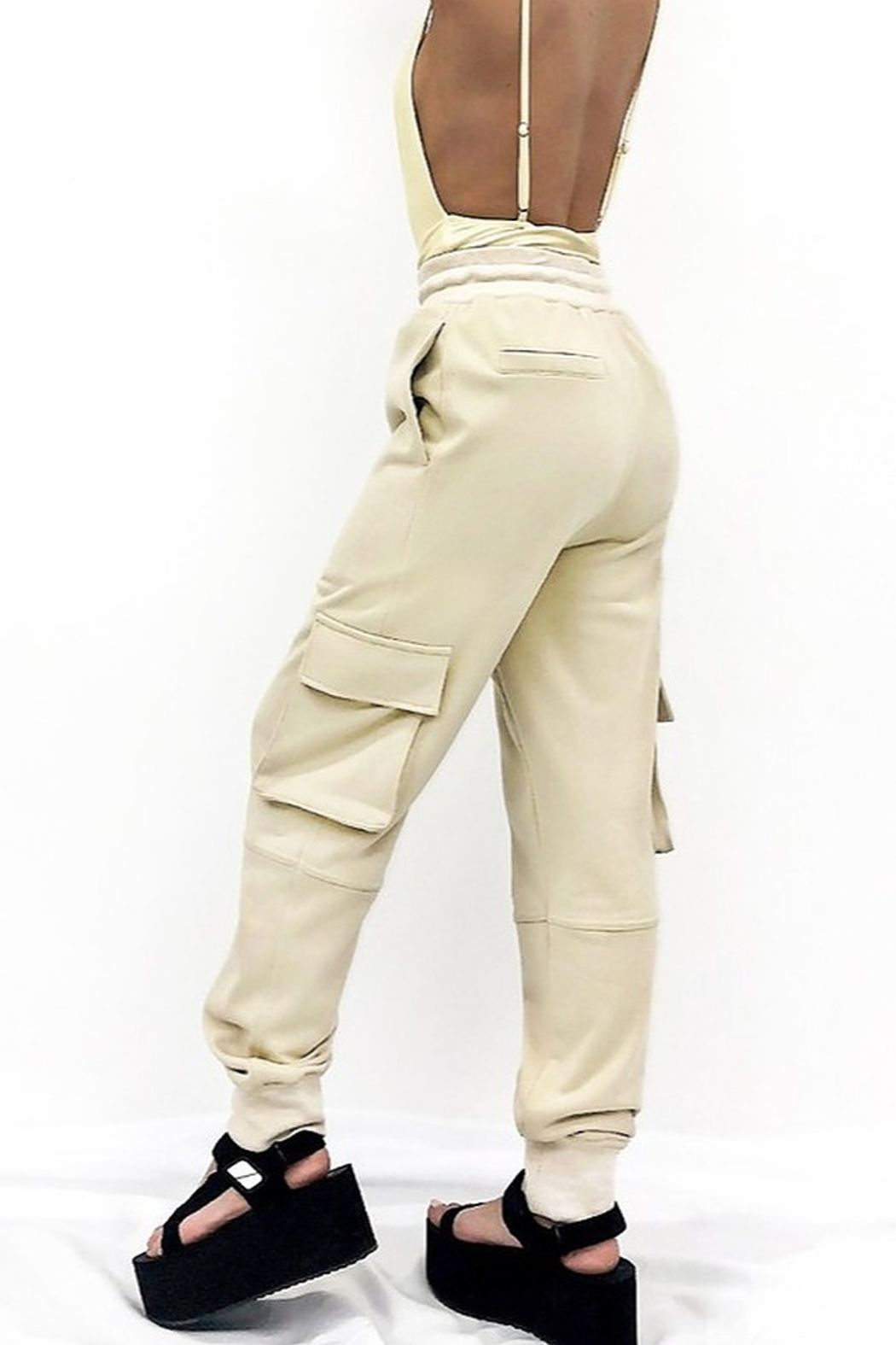 Hey Babe Cotton Cargo Joggers - Front Full Image