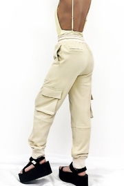 Hey Babe Cotton Cargo Joggers - Front full body