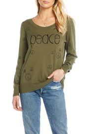 Chaser Peace Crew Neck Pullover - Product Mini Image