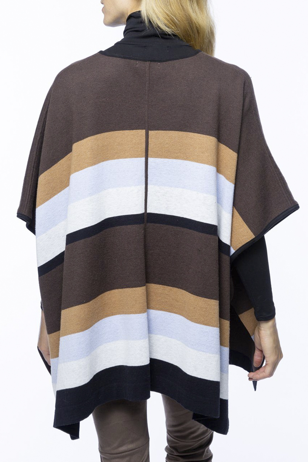 Tyler Boe Cotton/Cashmere Poncho - Front Full Image