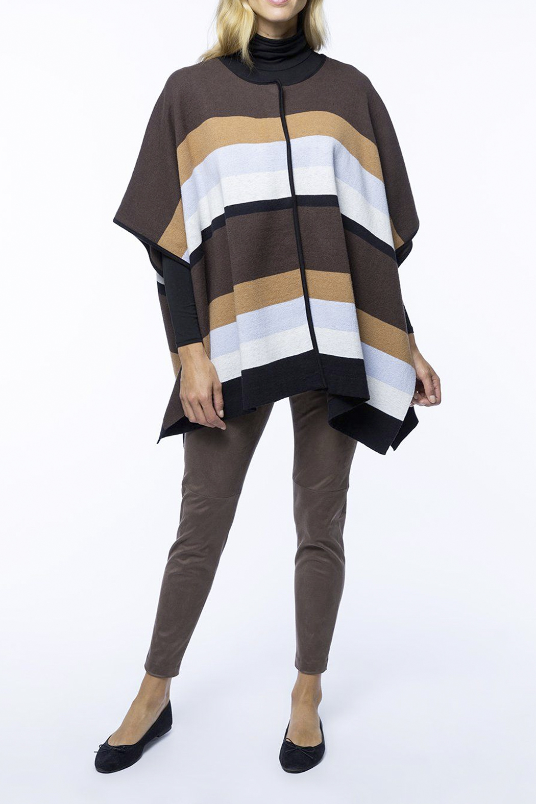 Tyler Boe Cotton/Cashmere Poncho - Side Cropped Image