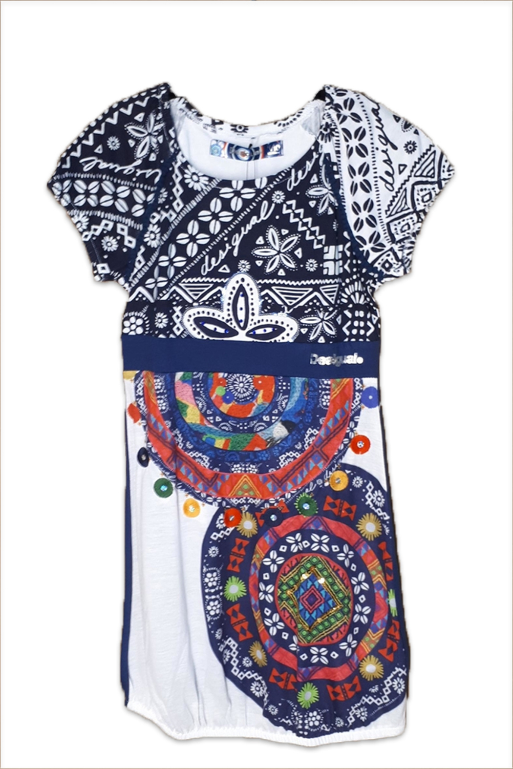 DESIGUAL Cotton Charleston Dress - Front Cropped Image