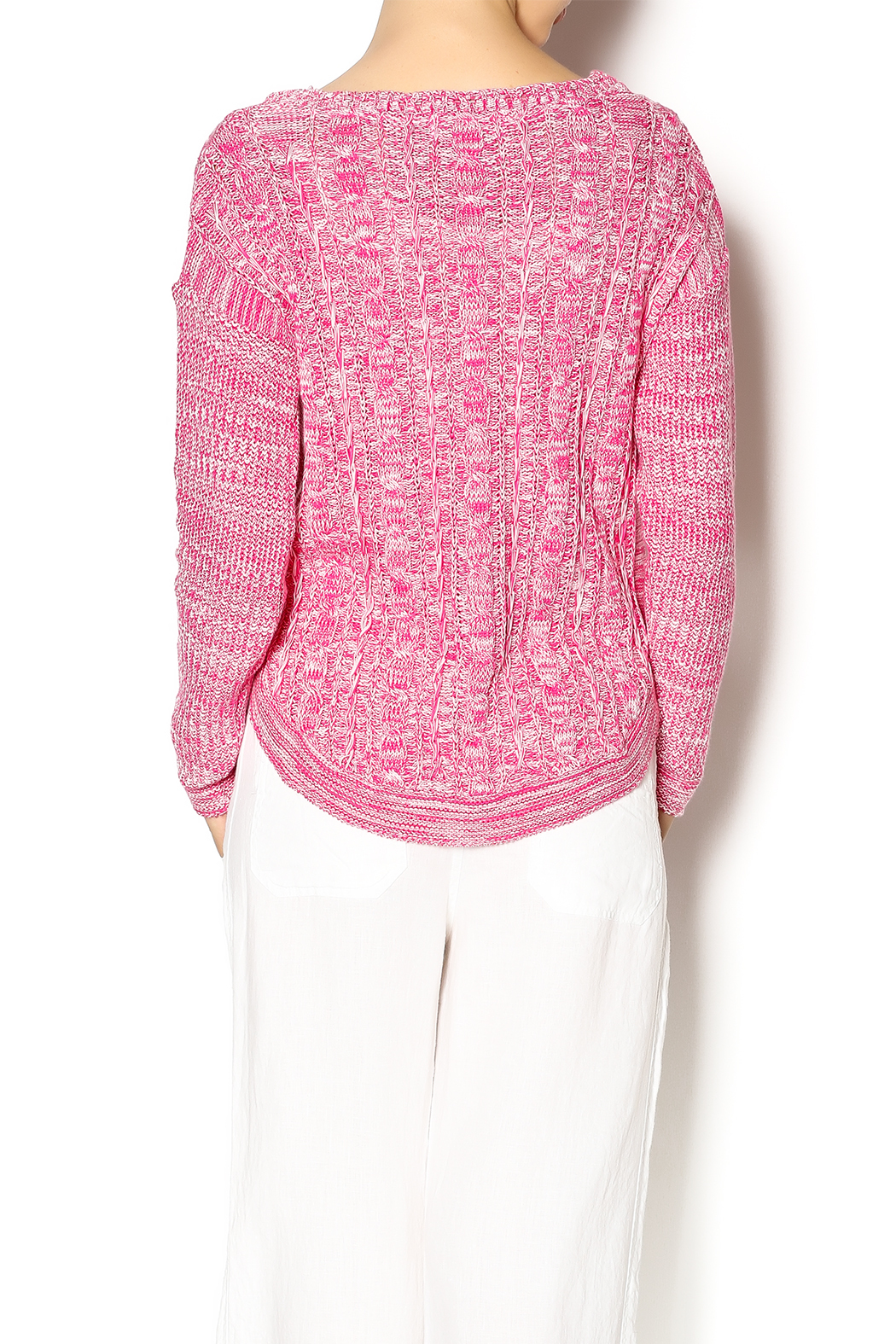 Cotton Country Pink Washable Cotton Sweater From Montana