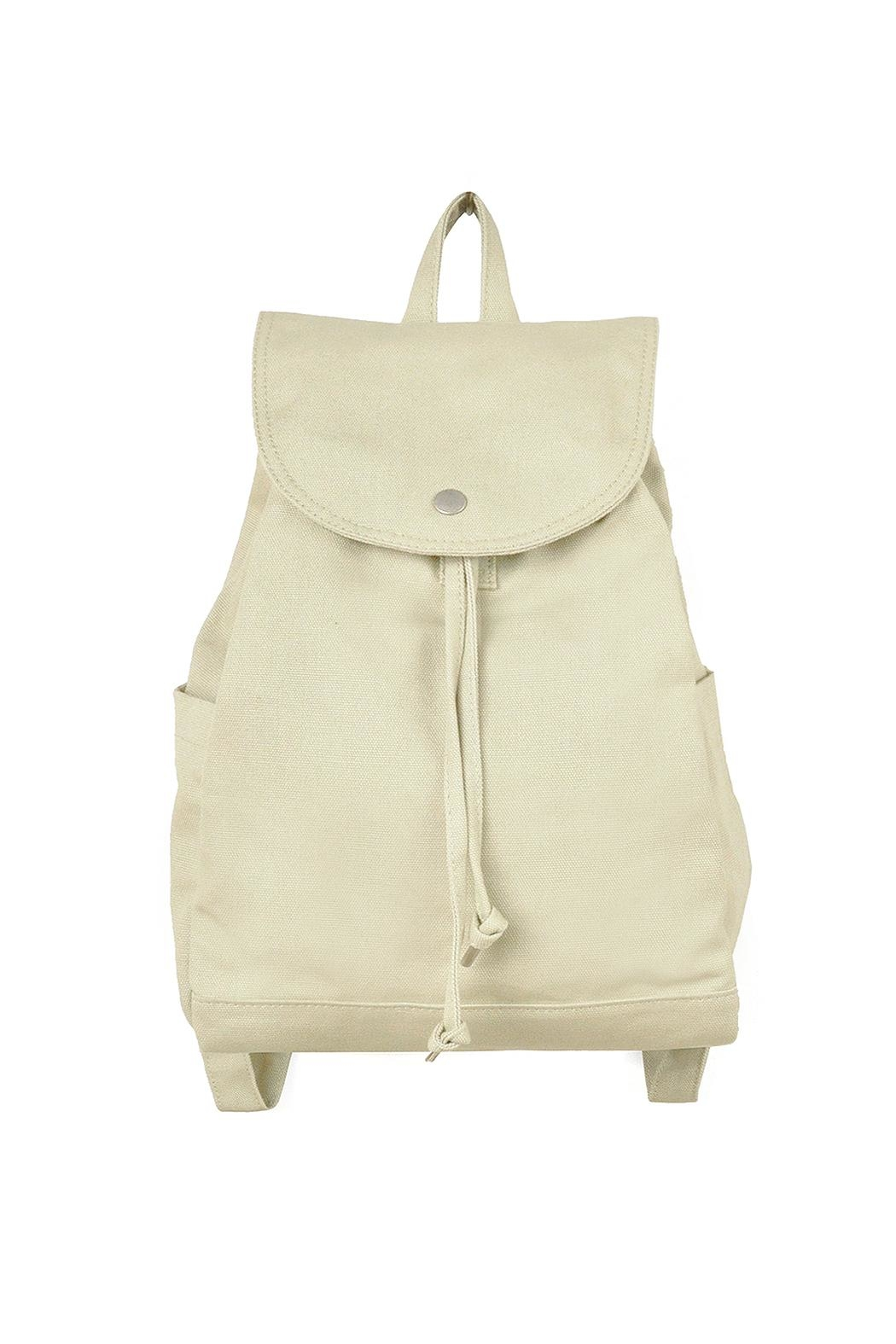 Baggu Cotton Drawstring Backpack - Front Cropped Image