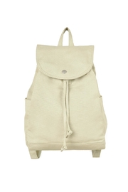 Baggu Cotton Drawstring Backpack - Front cropped