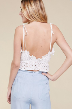 Skylar Rose Cotton Eyelet Ruffle Top - Alternate List Image