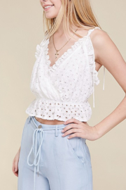 Skylar Rose Cotton Eyelet Ruffle Top - Product Mini Image
