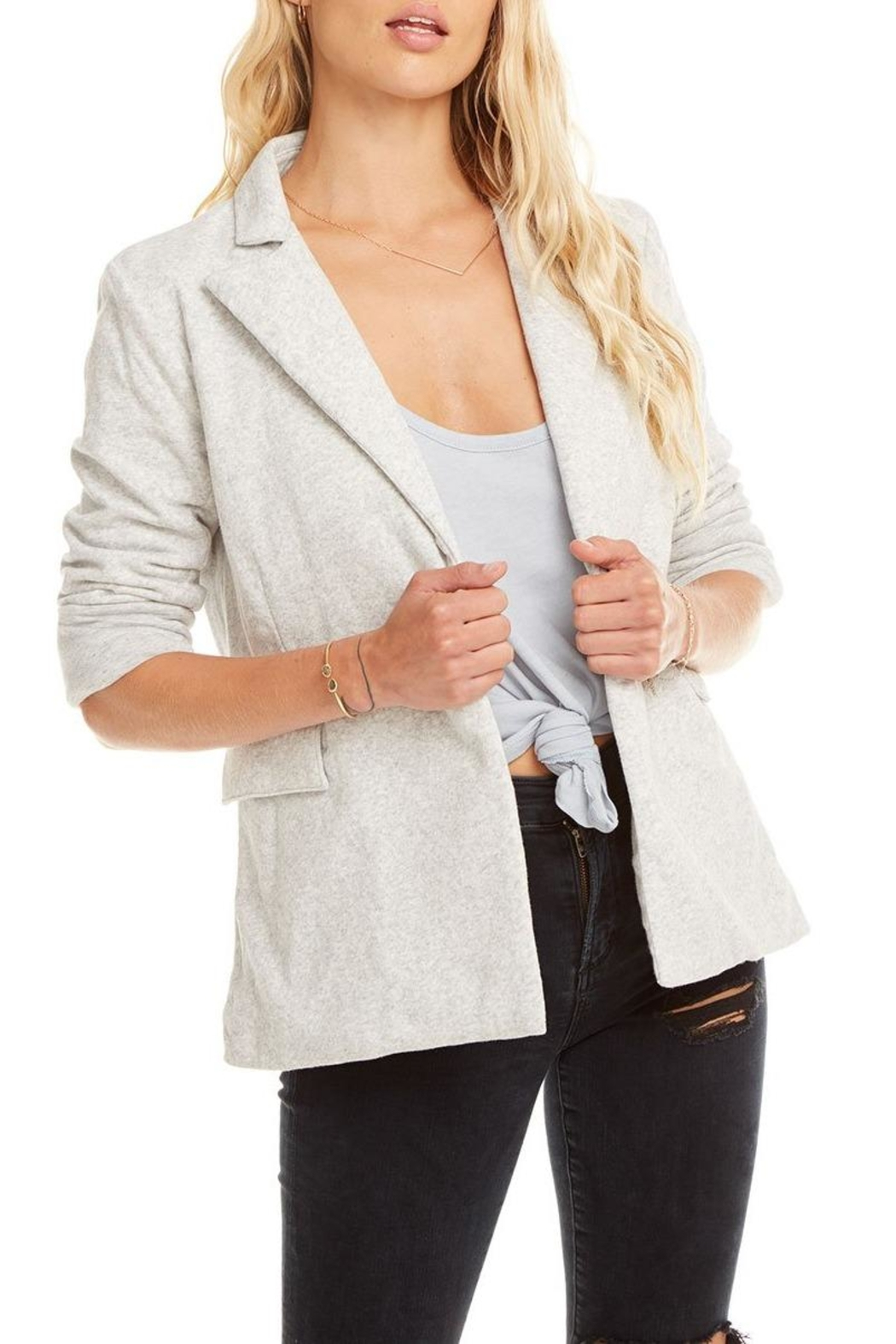 Chaser Cotton Fleece Blazer - Back Cropped Image