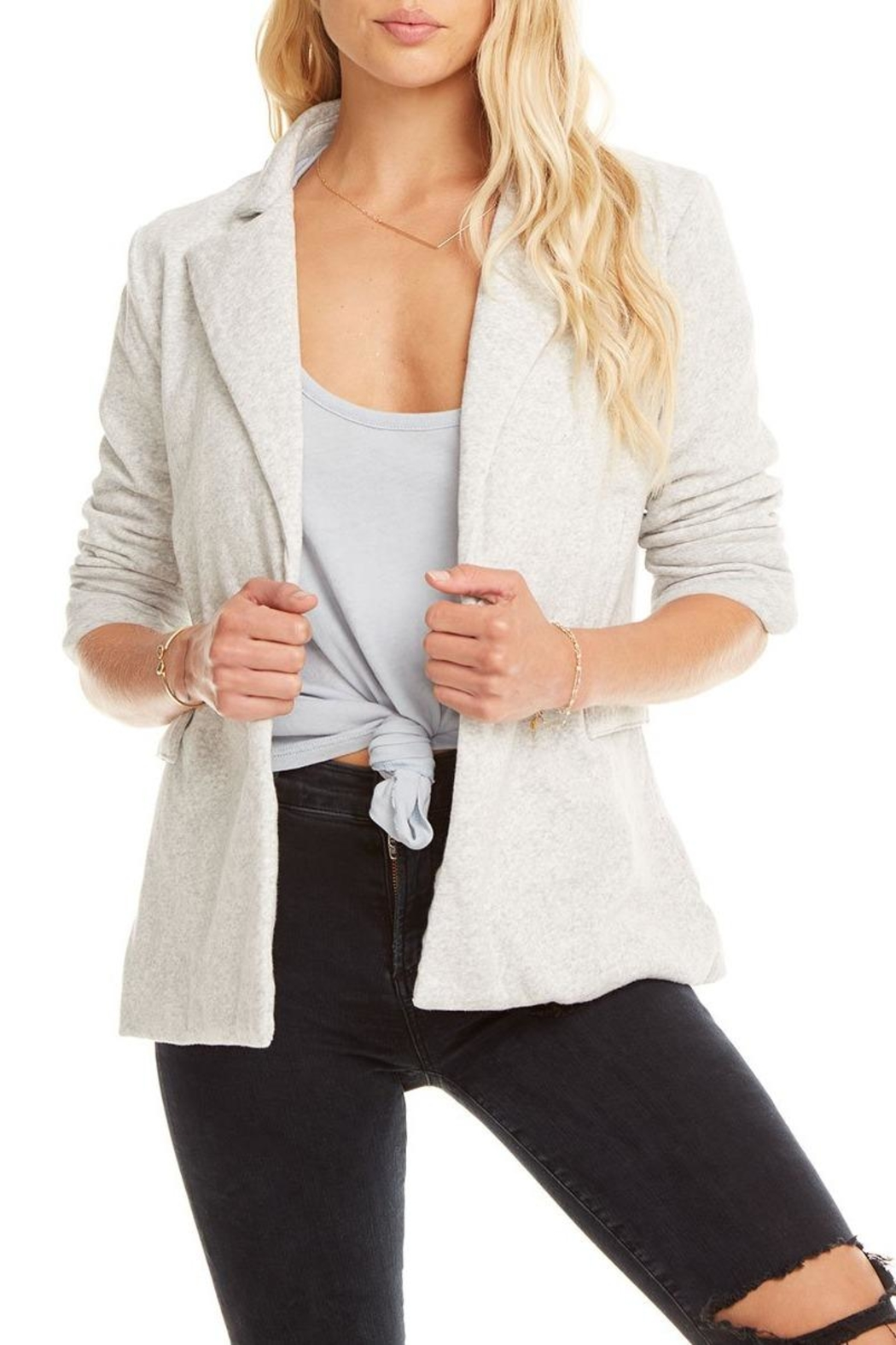 Chaser Cotton Fleece Blazer - Front Cropped Image