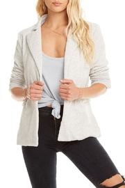 Chaser Cotton Fleece Blazer - Front cropped