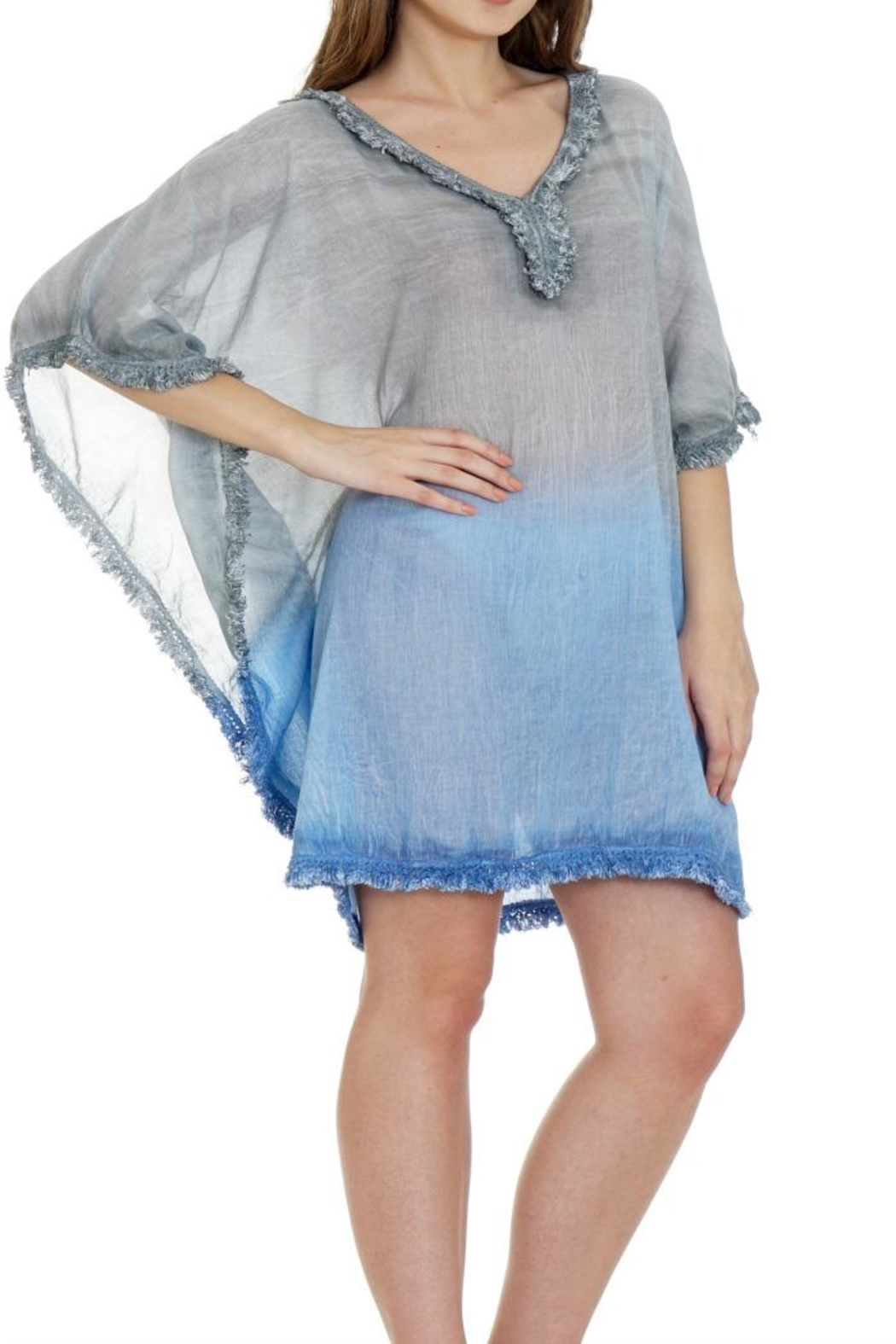 Patricia's Presents Cotton Fringed Caftan - Main Image
