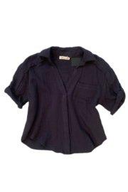 Millibon Cotton Gauze Pocket Top - Product Mini Image