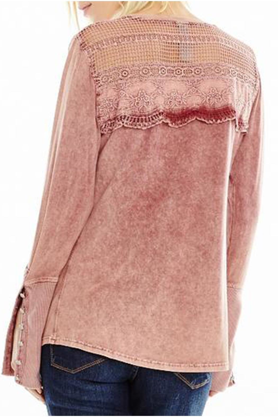 Aratta Cotton Henley Top - Side Cropped Image